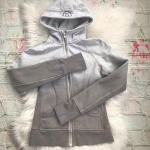 Lululemon Gray Dip Dye Scuba Hoodie jacket